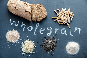 Wholegrain products on the board