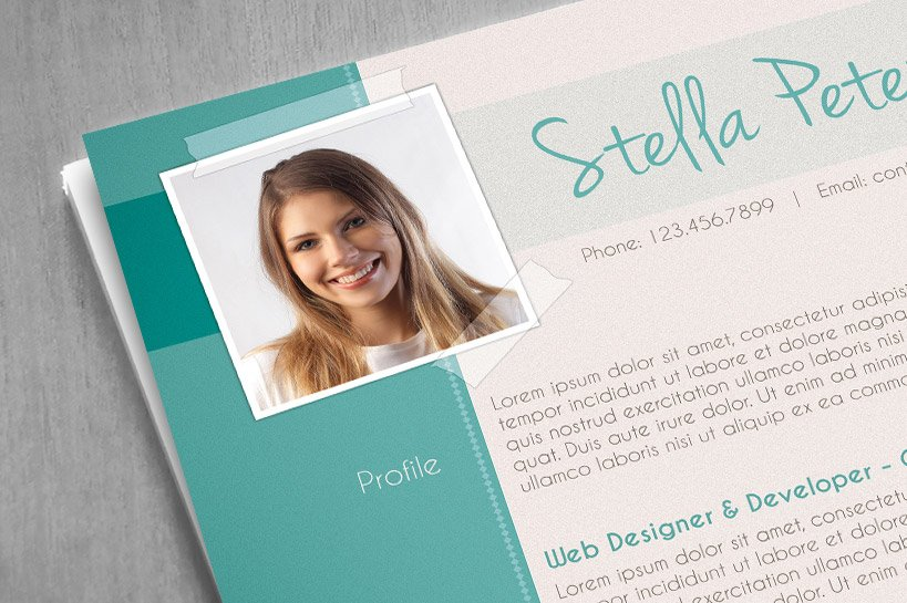 fancy cv template resume templates creative market - Fancy Resume Templates