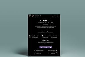 Black Minimal Corporate Flyer