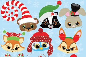 Christmas Critters Clipart AMB-504