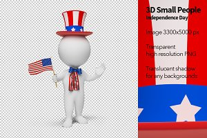 3D Small People - Independence Day