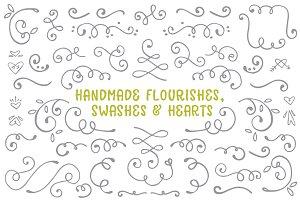 Handmade Flourishes - Avaline Script