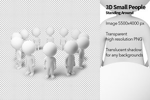 3D Small People - Standing Around