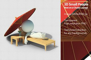 3D Small People - Chaise Lounge