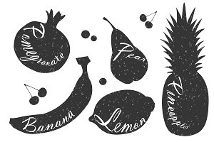 Lettering on fruits.