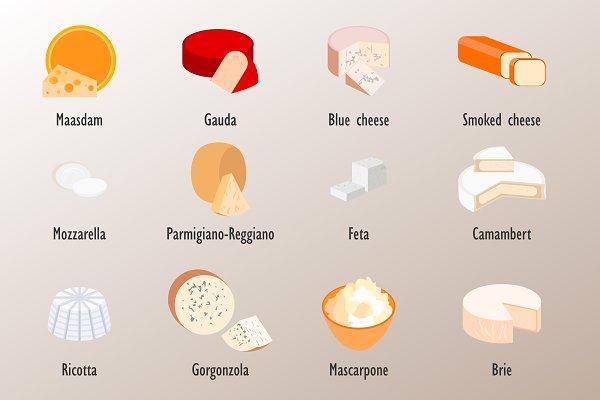 Set cheese style flat.