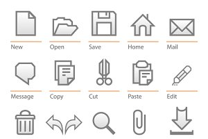 Universal software icon set