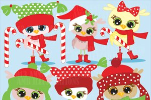 Christmas Owlettes Clipart AMB-365
