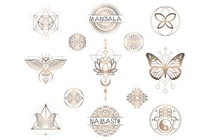 Vector sacred geometry illustration