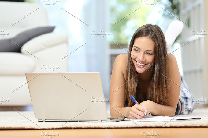 Student learning online at home.jpg - Education