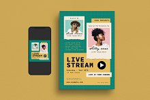 Live Stream Event Flyer Set by  in Templates
