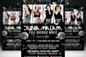 Dunia Malam Flyer Template