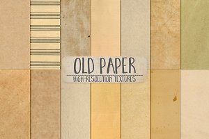Old Paper Textures, Aged Book Pages