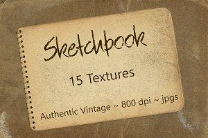 Vintage Sketchbook Textures