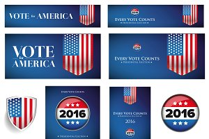 USA Presidential and election set