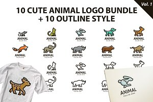 Cute Animal Logo Bundle Vol 1