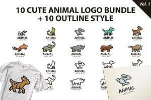 Cute Animal Logo Bundle Vol 1