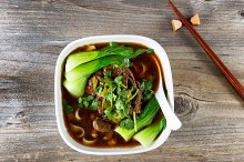 Beef Noodle with vegetable soup