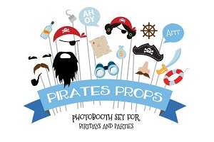 Themed Birthday PhotoProps- Pirates