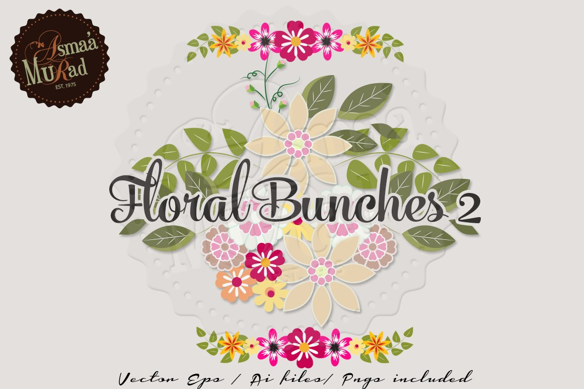 Vintage Flower Borders Vectors Illustrations Creative Market