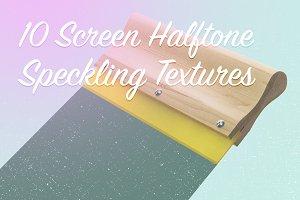 10 Screen Halftone Speckle Textures