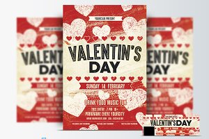 Valentines Day Flyer &Facebook Cover