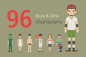 Boy & girl characters