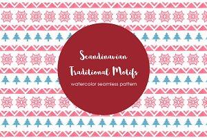 Scandinavian Motifs Seamless Pattern