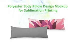 Body Pillow Cover Design Mock-up