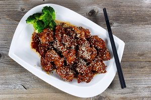 Sesame Seed Chicken and Broccoli