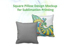 Square Pillow Cover Design Mockup V2
