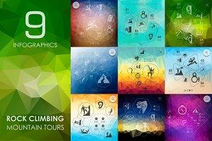 9 rock climbing infographics