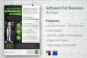 Software for Business A4 Flyer
