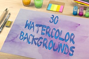 30 Watercolor Backgrounds