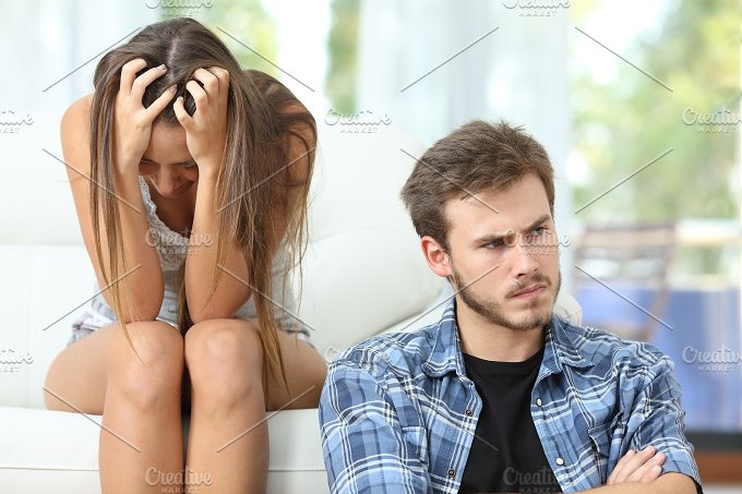 Couple or marriage angry and sad after argument.jpg - People