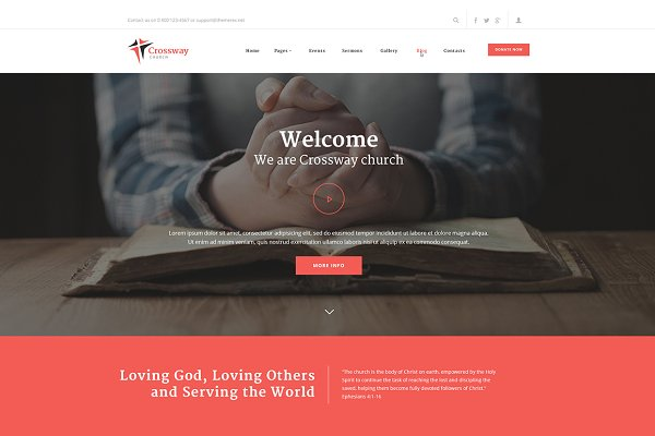 WordPress Non-Profit Themes: ThemeREX - CrossWay - Church & Religion Theme