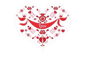 Vector Love Heart Motif