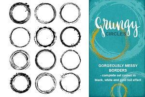 Grungy Circles Overlays