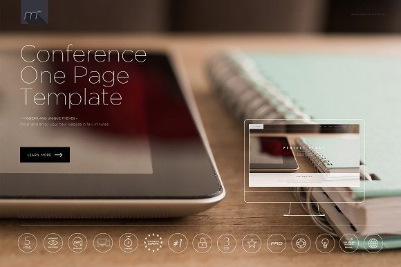 Conference One Page Template