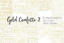 Gold Confetti 2 digital paper