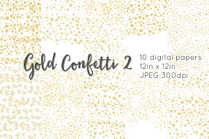 Gold Confetti 2 digital paper