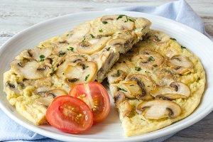 tortilla de champiñon (