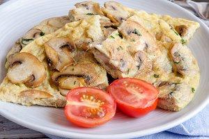 tortilla de champiñon