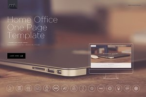 Home Office One Page Template HTML