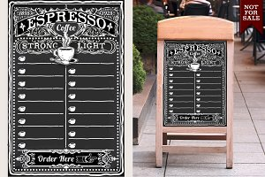 Vintage Blackboard for Espresso