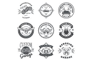 Custom Car and Bike Garage Labels