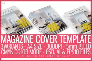 Magazine Cover Template 4
