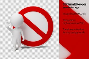 3D Small People - Interdiction Sign