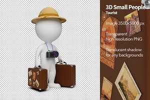 3D Small People - Tourist