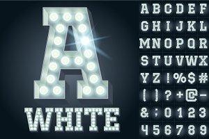 Light up cold white alphabet